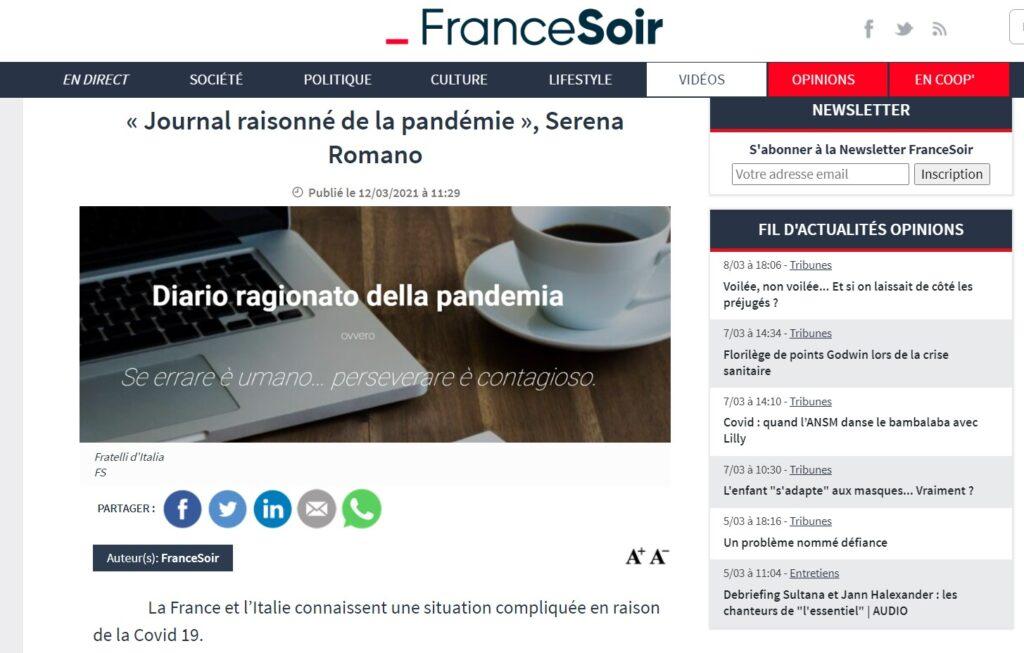 La pubblicazione su France-Soir