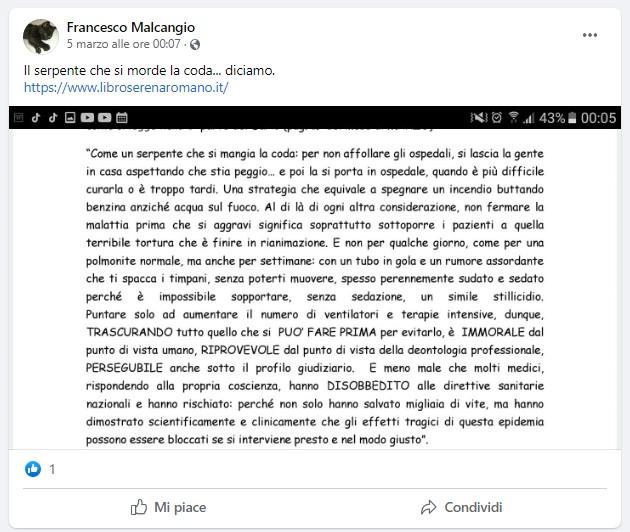 Post di Francesco Malcagio